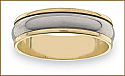 Mens Gold and Titanium Ring