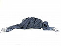 dlux Charcoal Linen Scarf