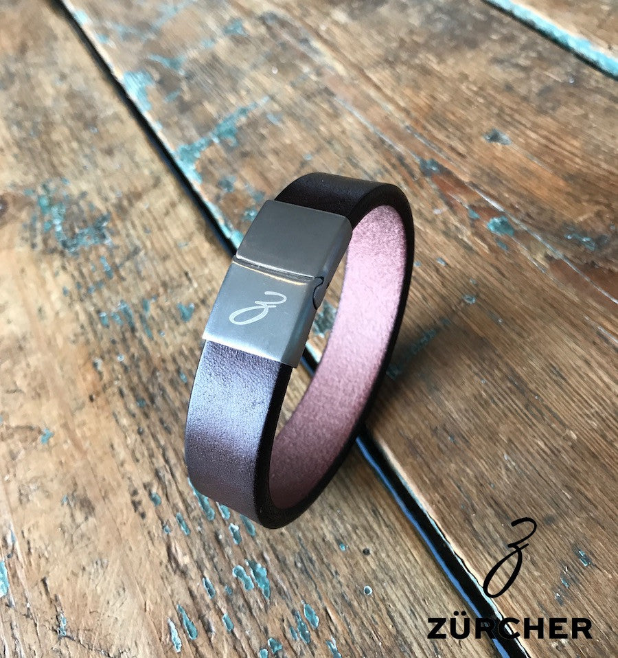 Burgundy Leather Bracelet by ZÜRCHER