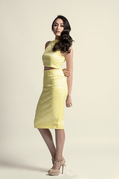 Kate Midi Skirt in Yellow