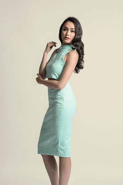 Kate Midi Skirt in Mint Green