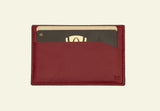 The saya Crimson cardholder, handmade luxury gifts online