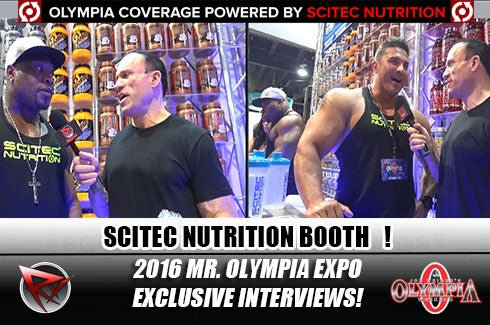 Eddie Bracamontes and Maxx Charles at the Scitec booth!