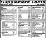 Big Bang Supplement Facts