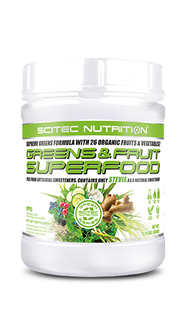 Scitec Nutrition Greens & Fruit Superfood - Supreme Greens Formula with 26 organic fruits & vegetables