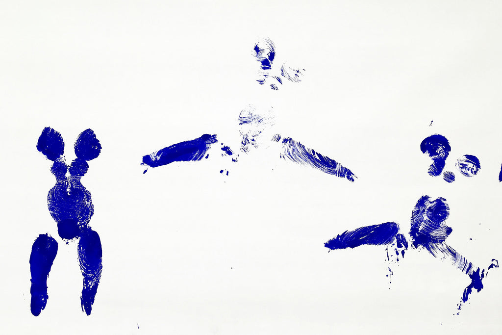 Yves Klein Untitled Anthropometry Detail