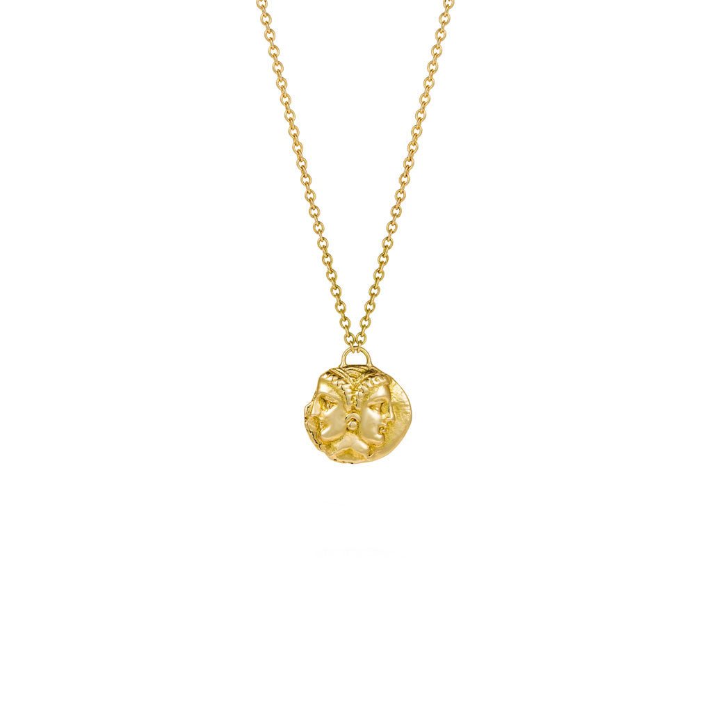 crucible london gold gemini pendant products necklace