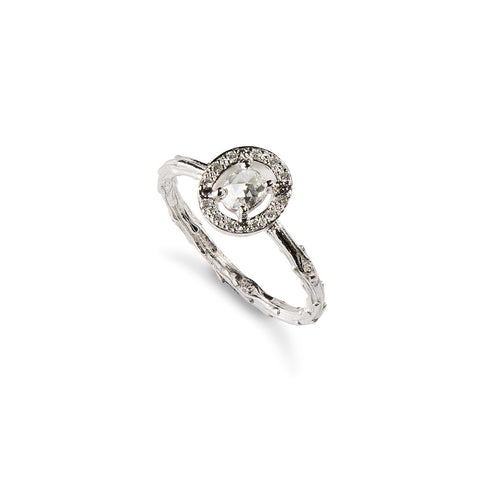 Titania White Diamond Engagement Ring