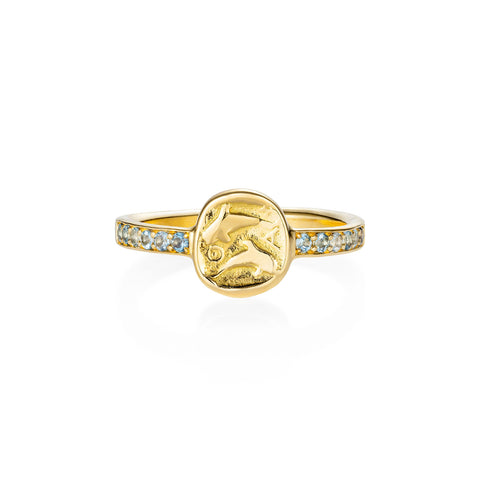 Delphus Aquamarine Gold Ring