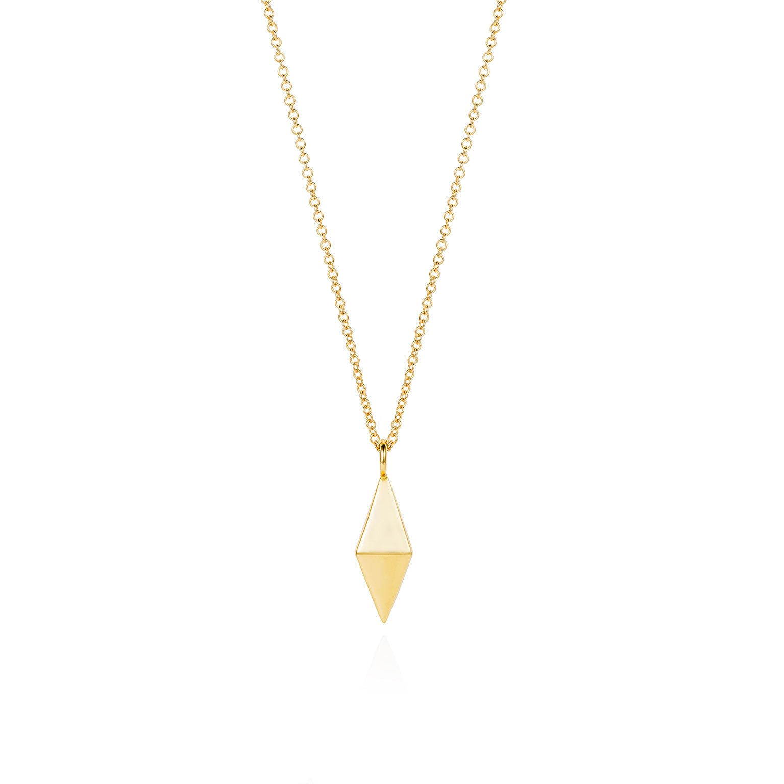 Double pyramid gold necklace crucible london double pyramid gold necklace mozeypictures Image collections