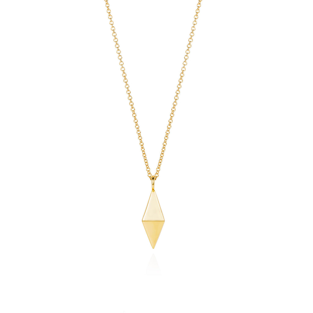 Double Pyramid Gold Necklace