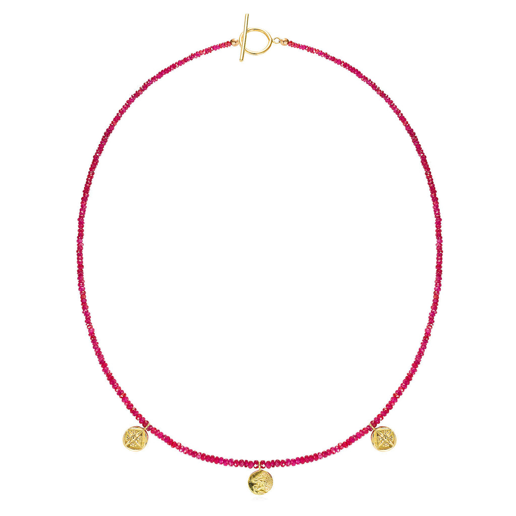 Lion Ruby Necklace