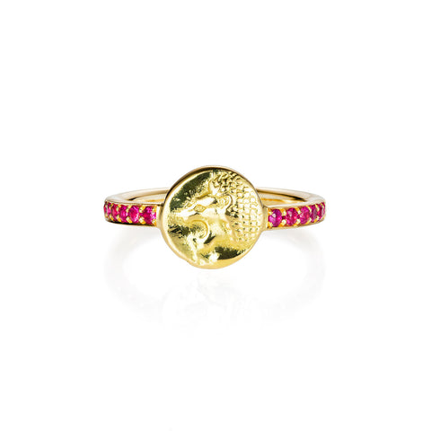Nemean Lion Ruby Gold Ring