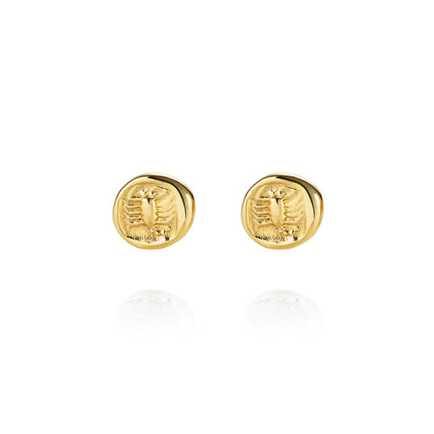 Scorpion Gold Stud Earrings