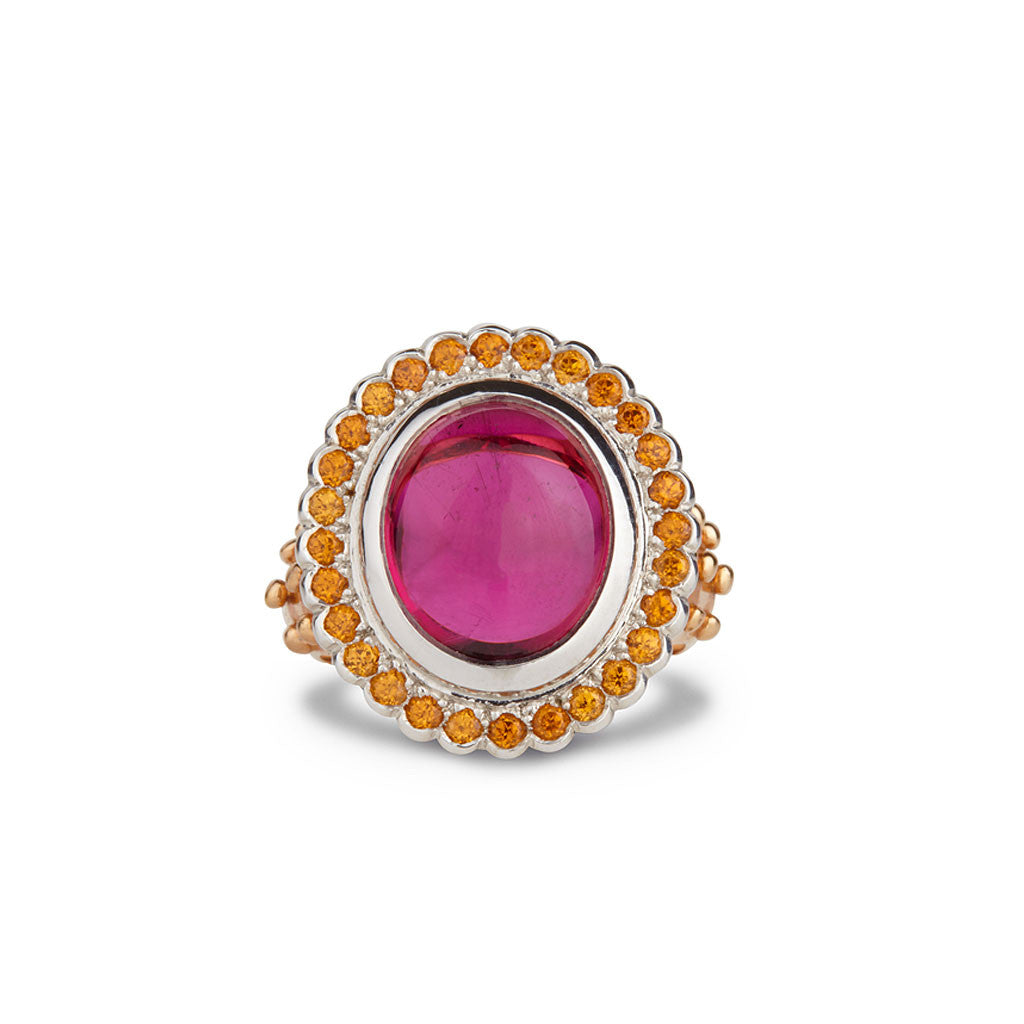 Rubellite & Spessartine Cocktail Ring