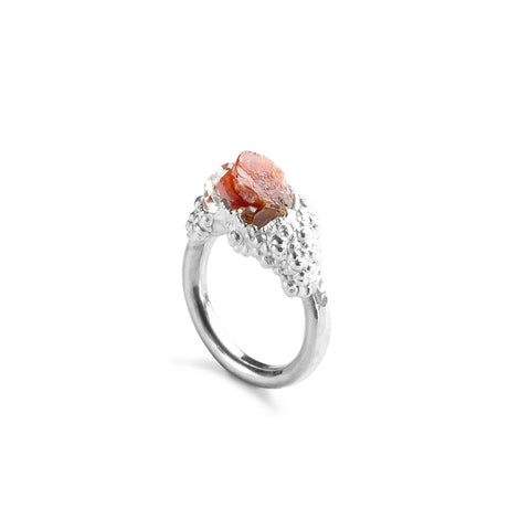 Vanadinite & Herkimer Crystal Ring