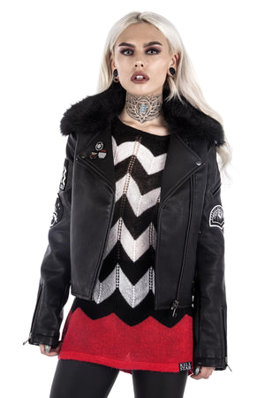 All Fired Up Biker Jacket