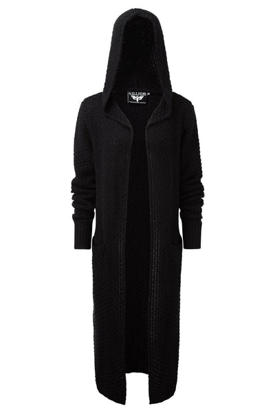 Black BAAL Knit Long cardigan from KILLSTAR
