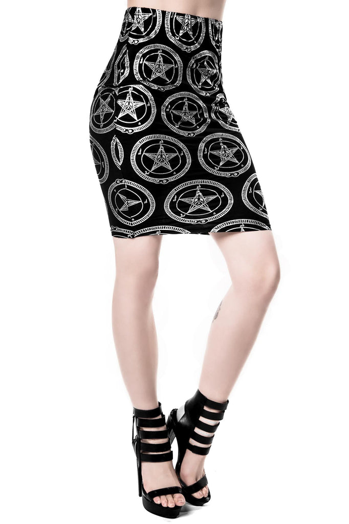 Baphomet Pencil Skirt [B]