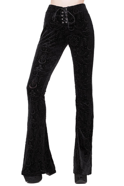 Bellatrix Burnout Velvet Bell Bottoms [B]