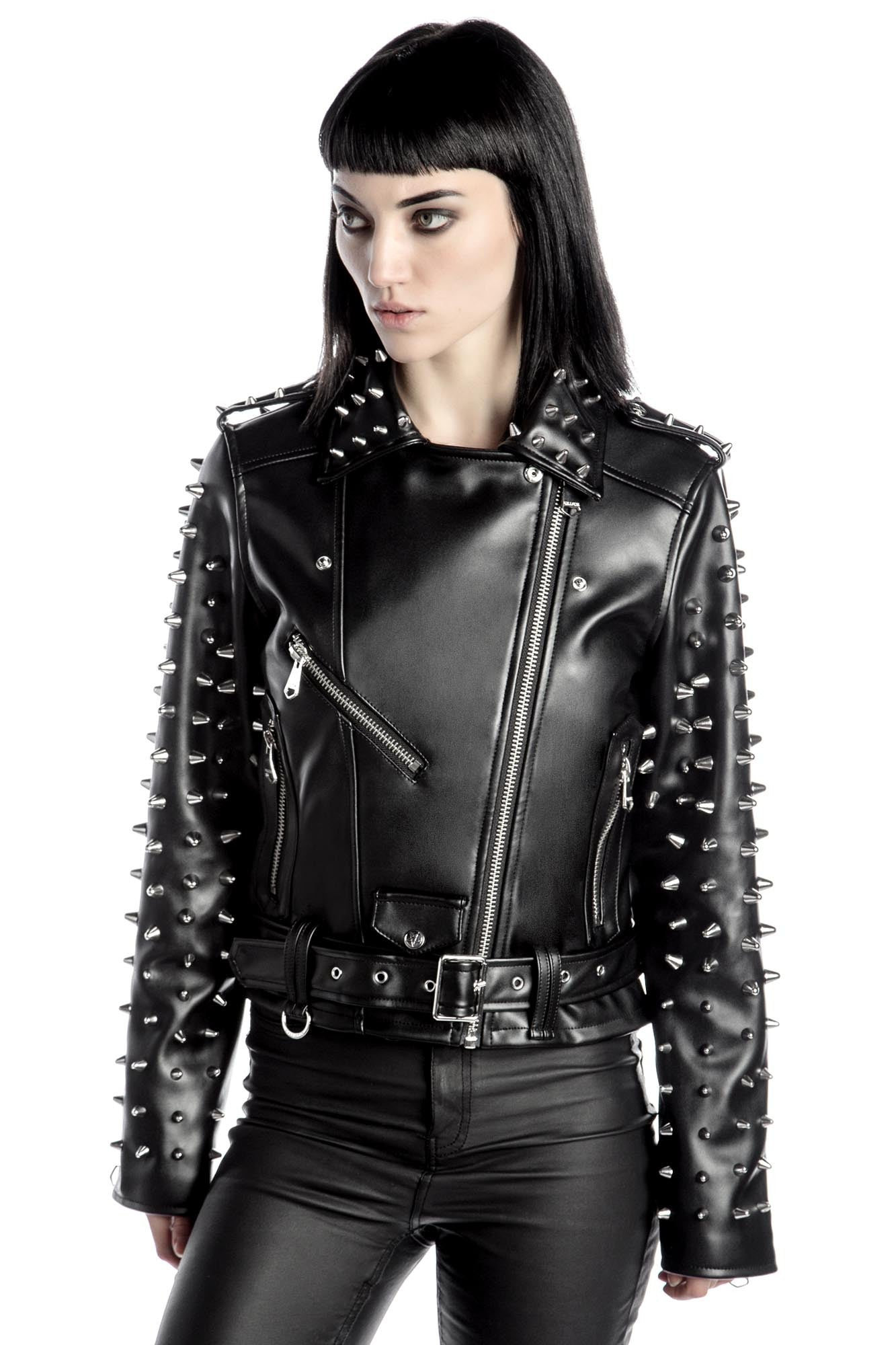 87cabbb871ce Billie Studded Biker Jacket  B . Double tap to zoom
