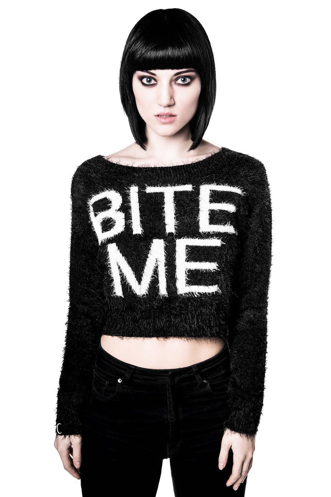 Bite Me Crop Sweater [B]