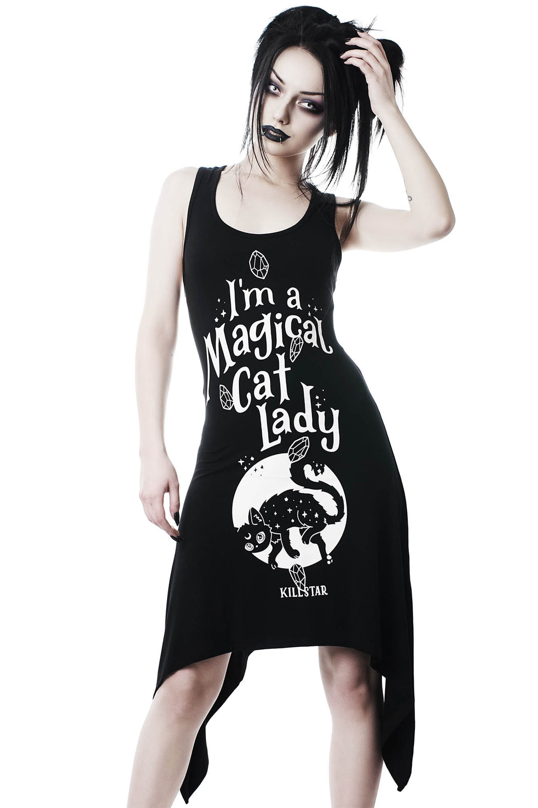 Cat Lady Lace-Up Tunic