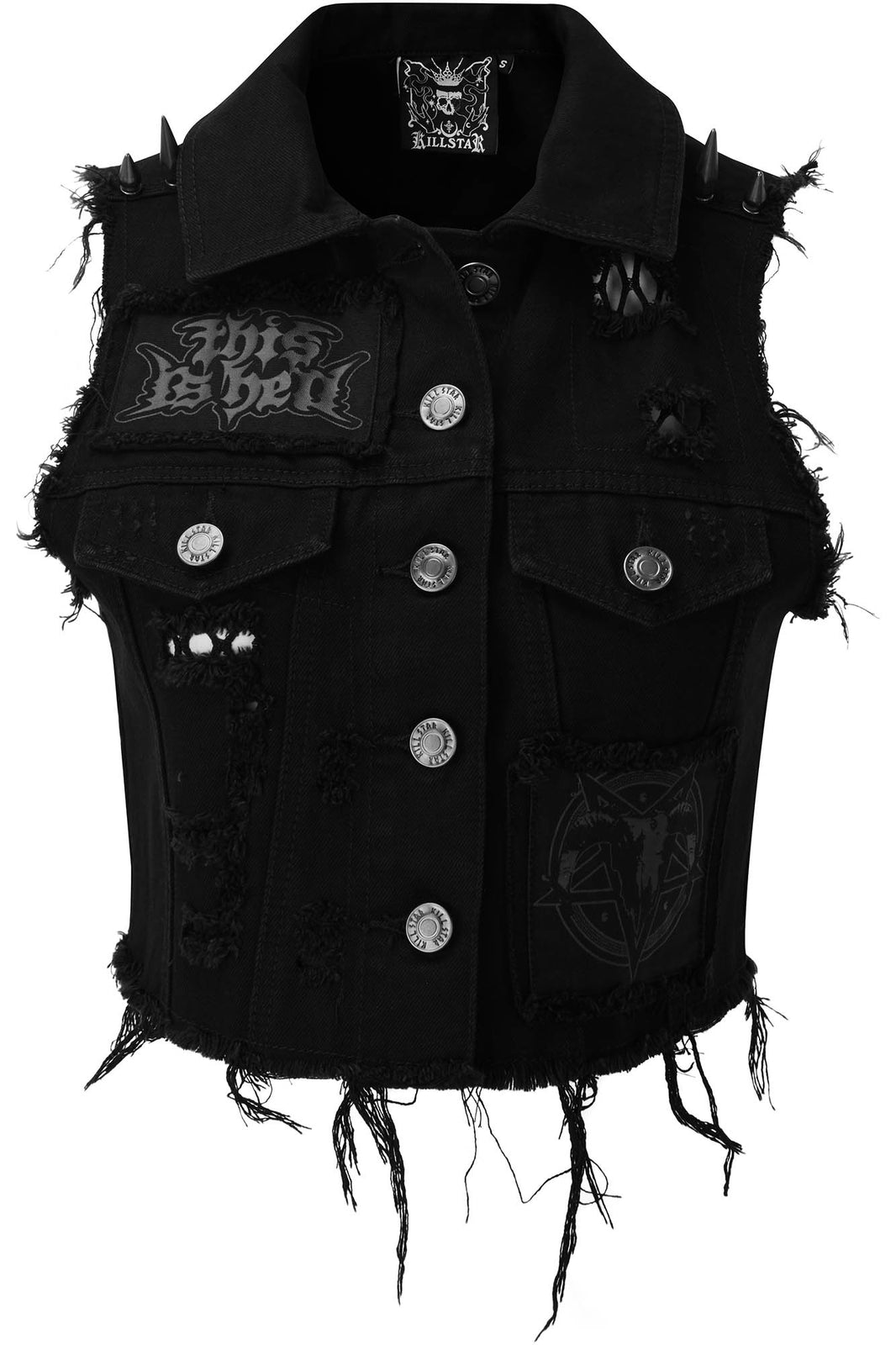 Come Undone Denim Vest