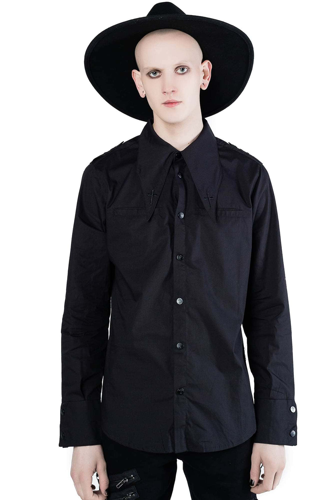 Crucifaction Button-Up Shirt