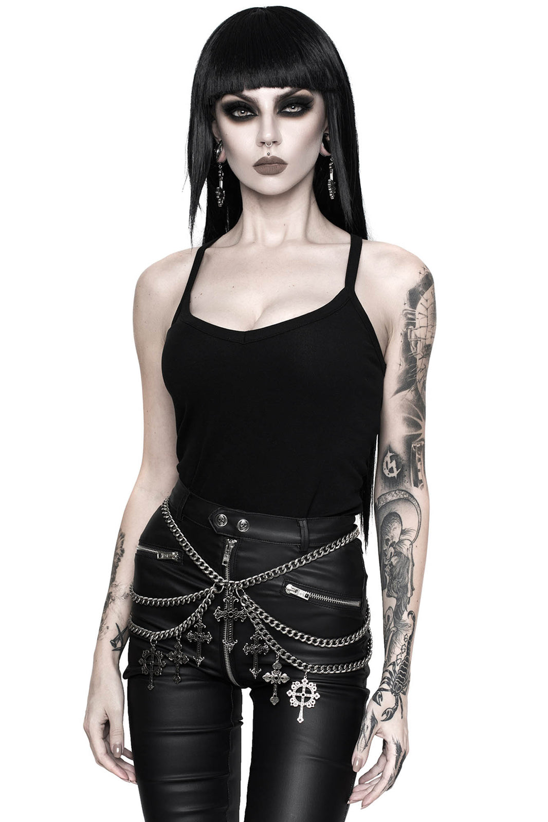 Crucifix Chain Belt