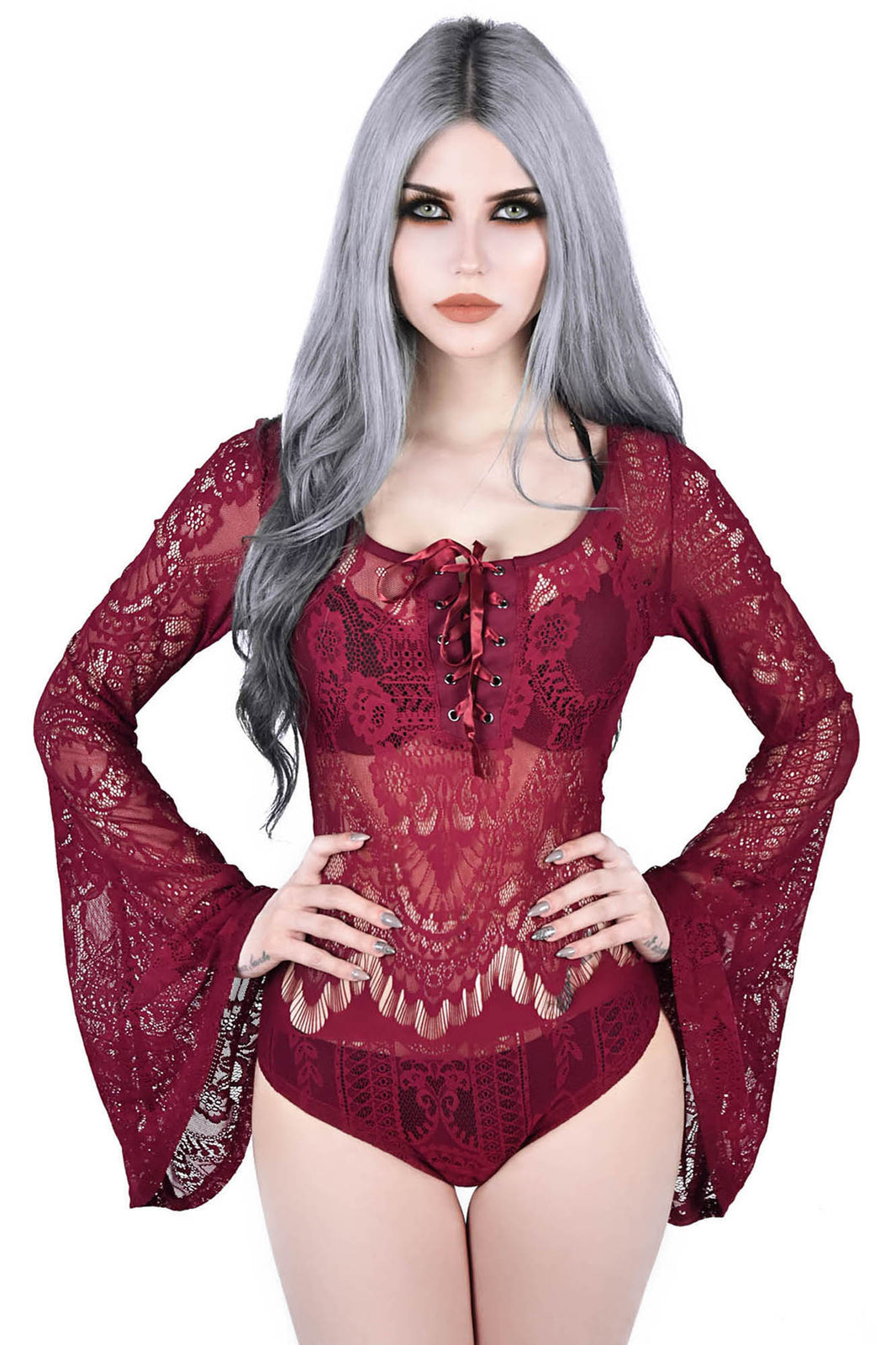 Deadly Beloved Bodysuit [WINE]