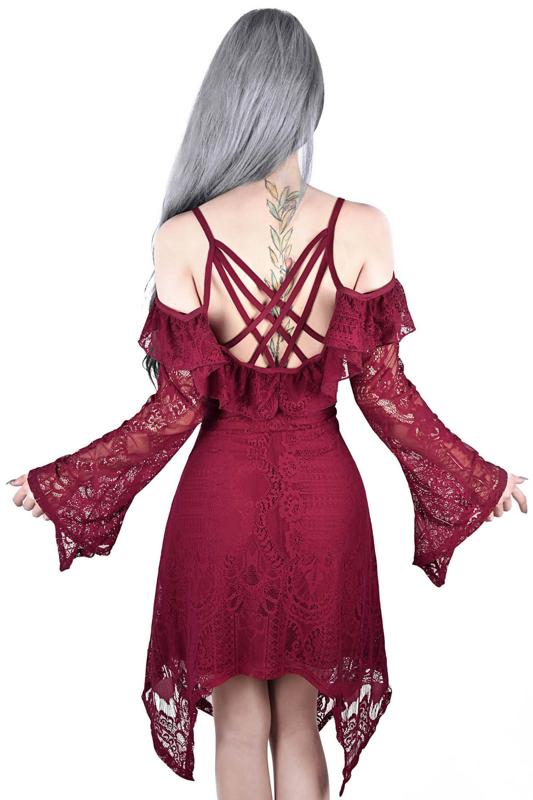 Deadly Beloved Burial Dress [WINE]
