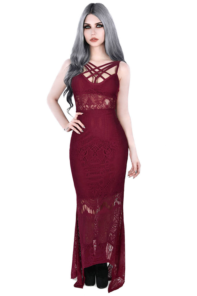 Deadly Beloved Maxi Dress [WINE]