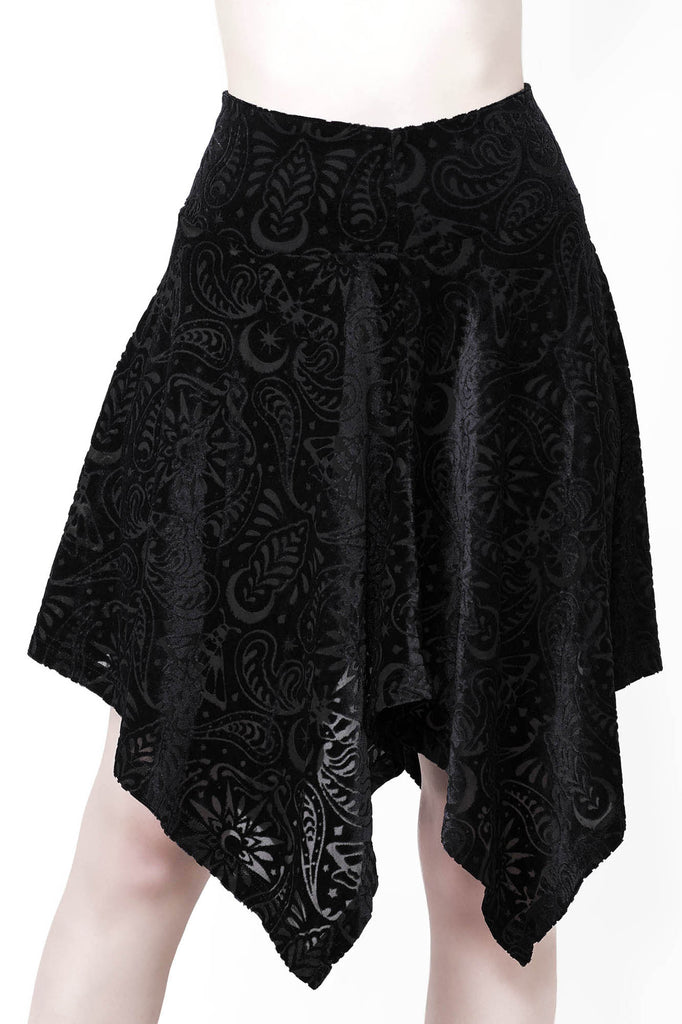 Etta Burnout Velvet Skirt [B]