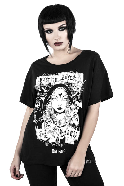 Fight Like A Witch Relaxed Top [B]