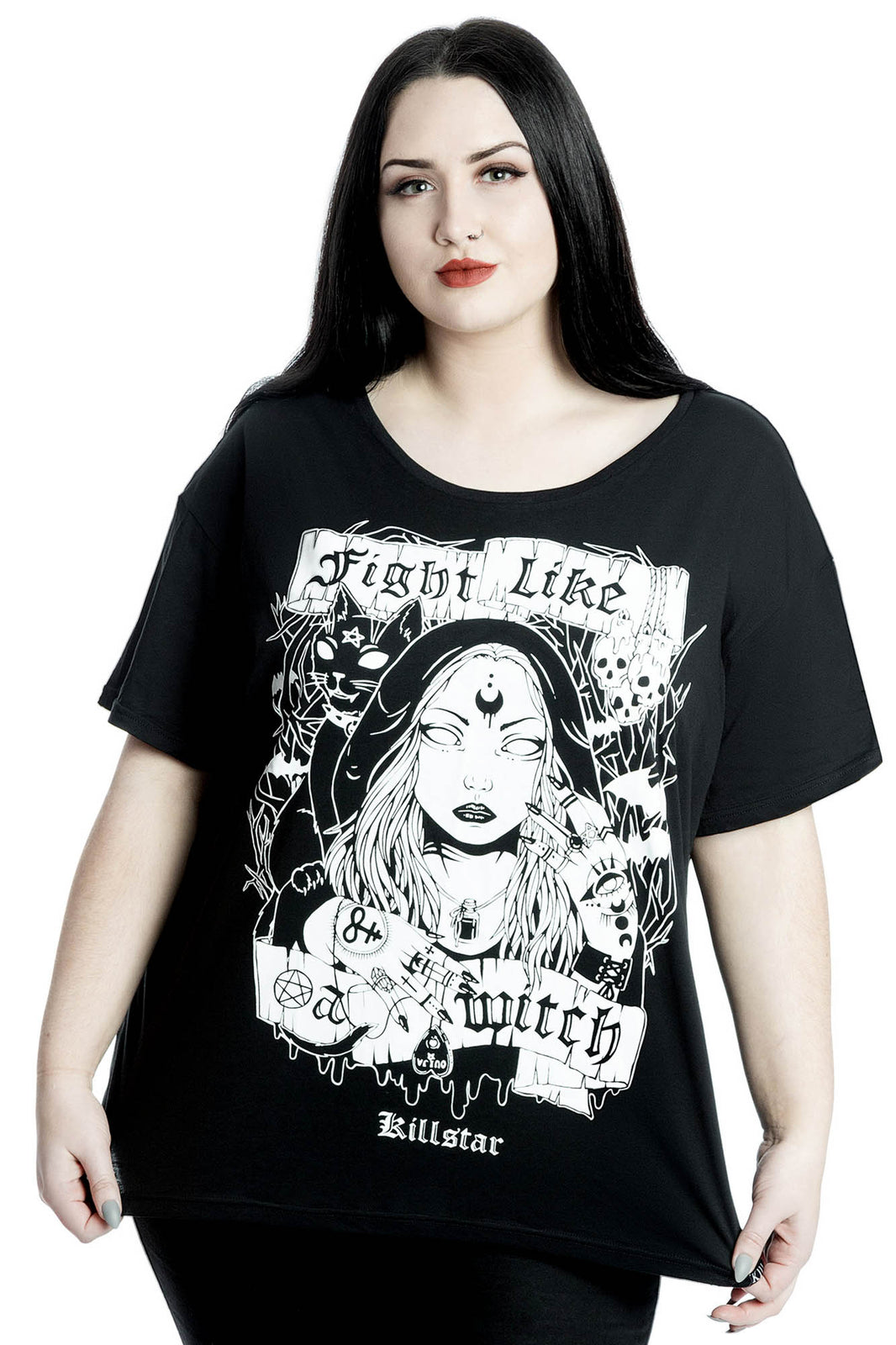 Fight Like A Witch Relaxed Top [PLUS]