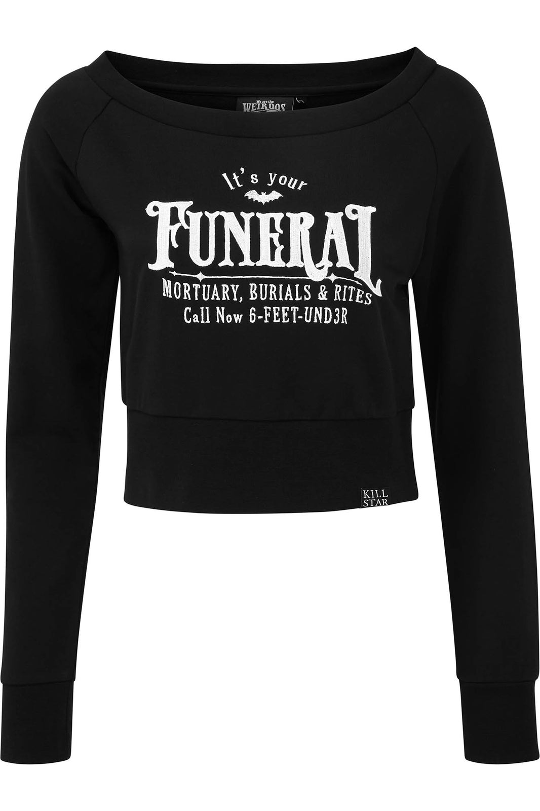 Funeral Crop Sweater