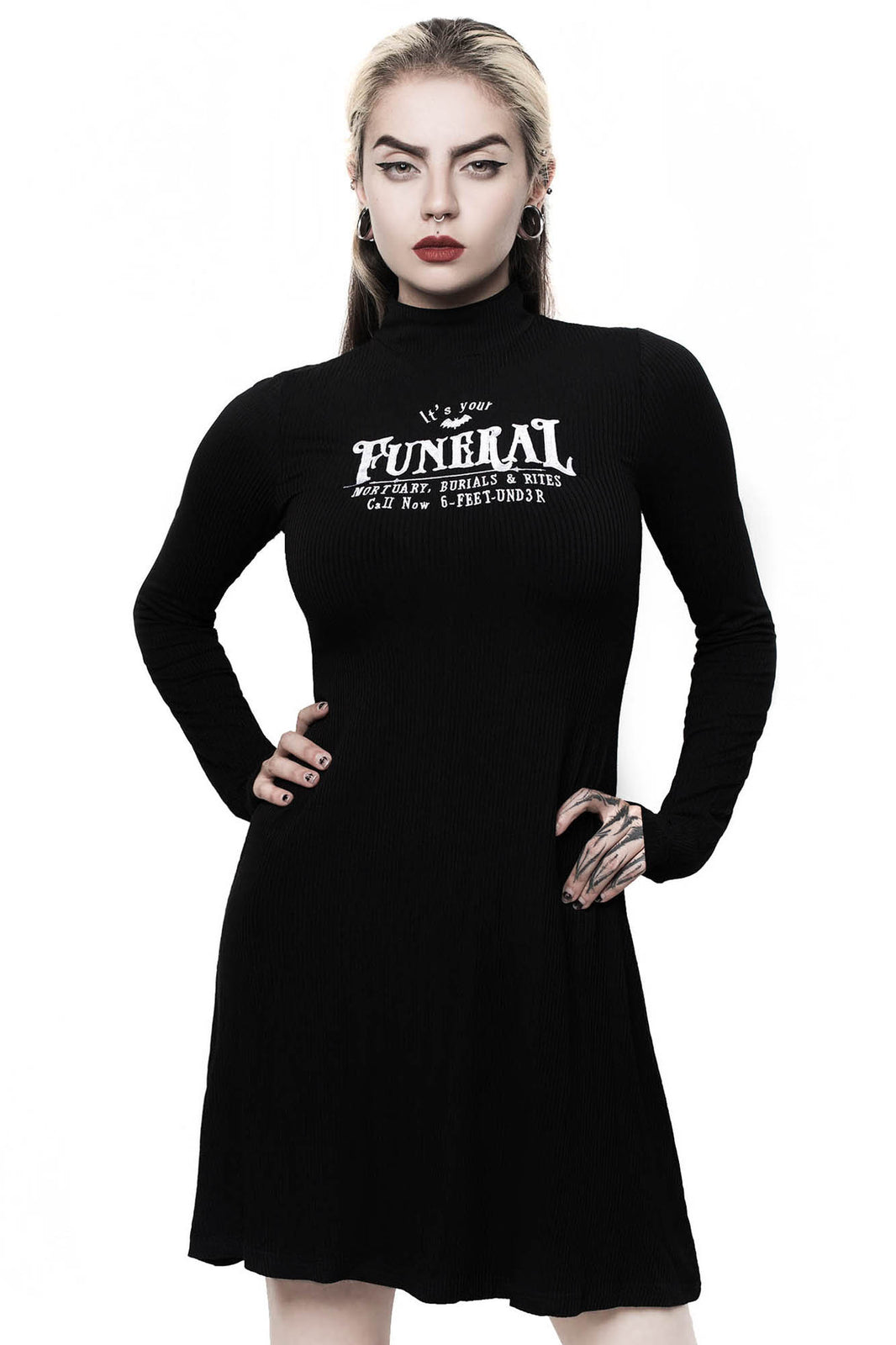 Funeral Long Sleeve Dress