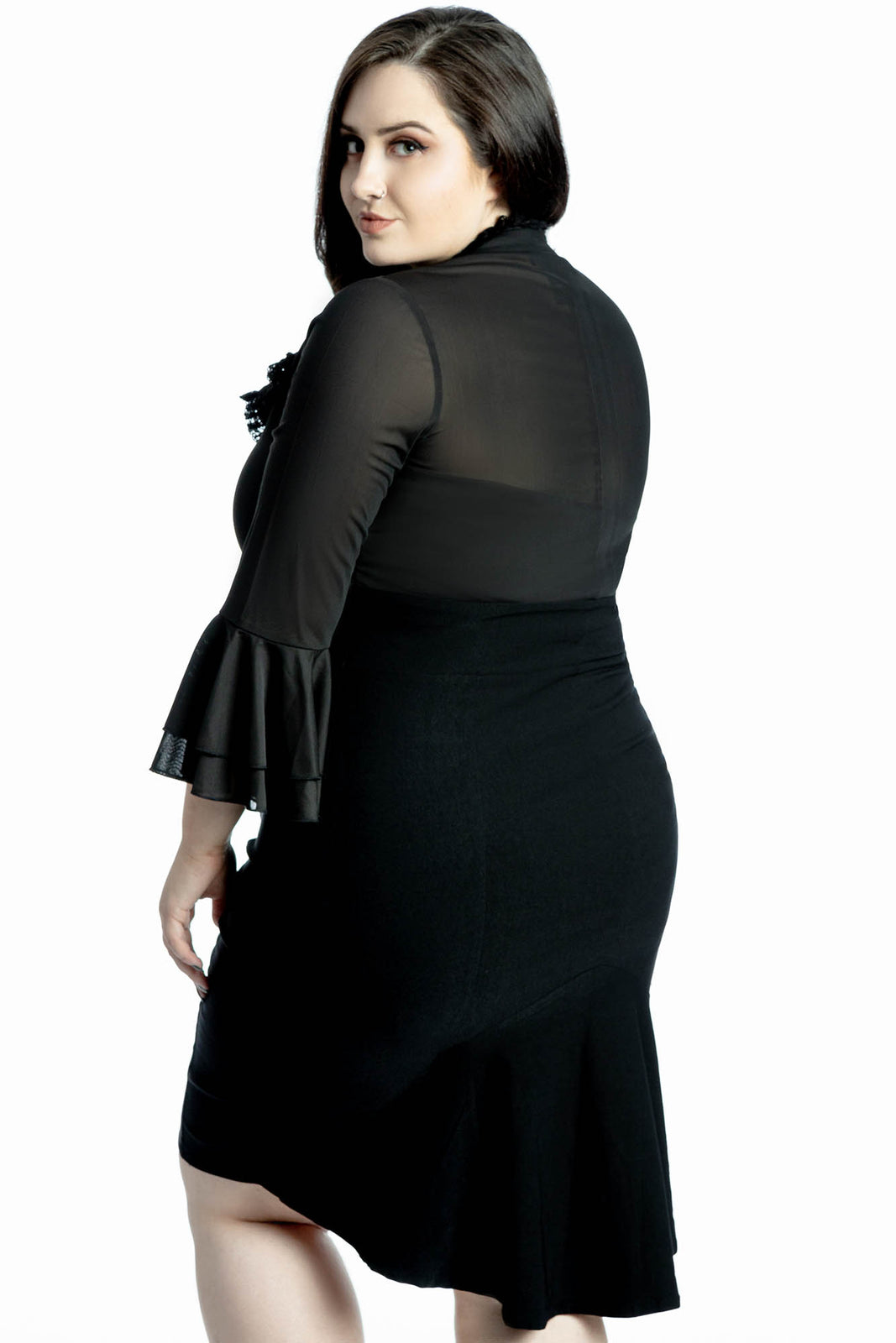 Glamour Ghoul Pencil Dress [PLUS]