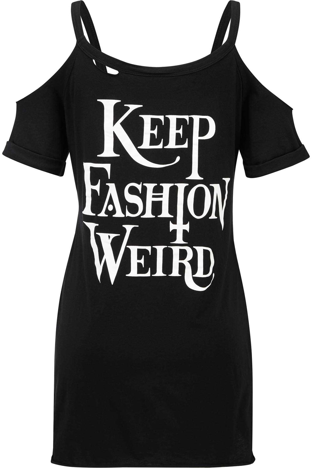 Keep Weird Distress Top [B]
