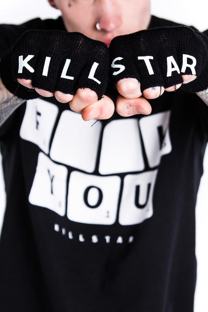 Kill/Star Fingerless Gloves [B]