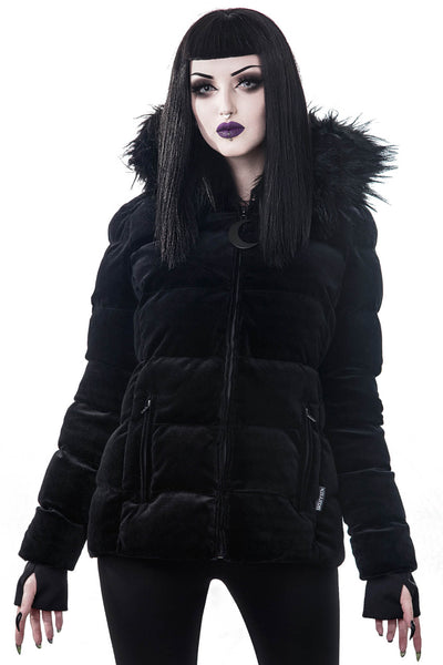 Lisa Luna Padded Velvet Jacket