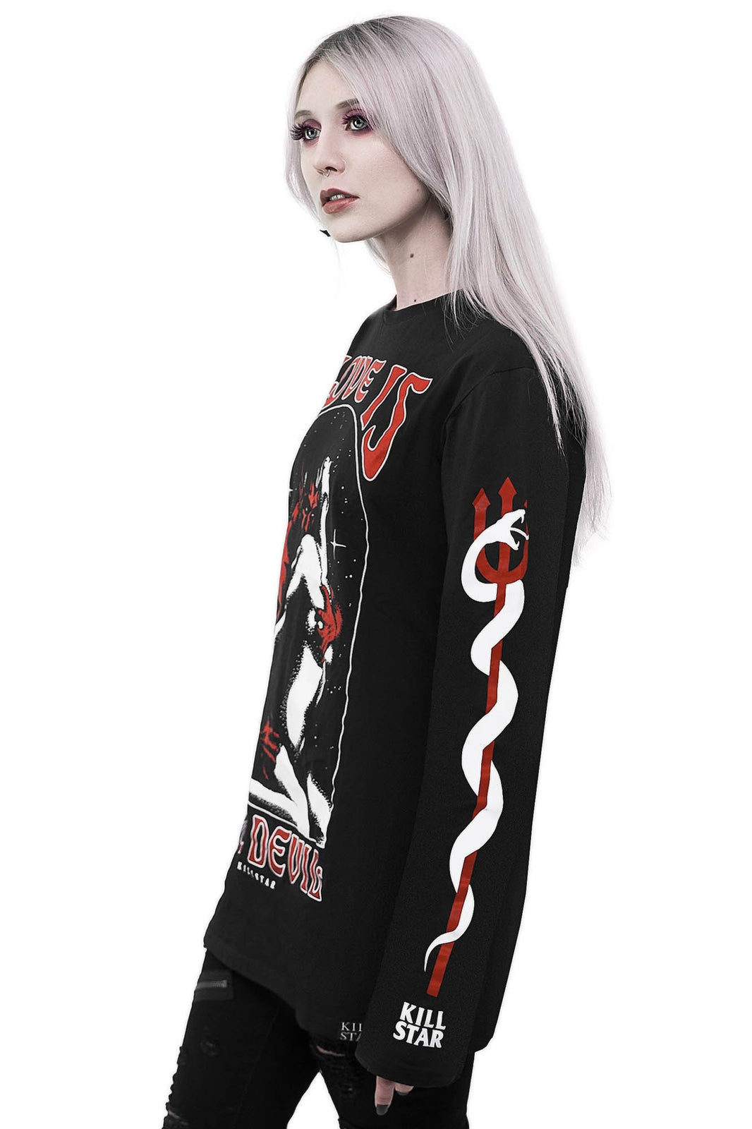 Love Devil Long Sleeve Top