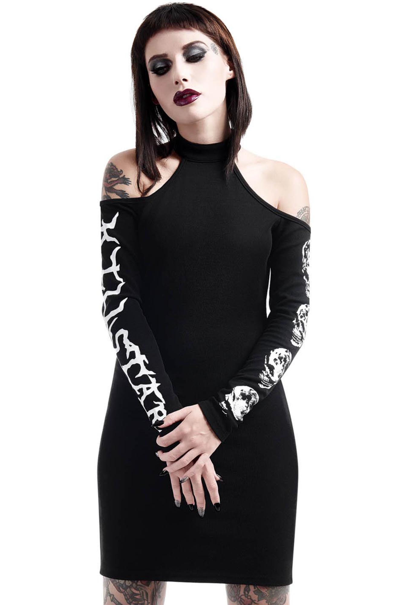 luna morte bodycon dress b killstar us store. Black Bedroom Furniture Sets. Home Design Ideas