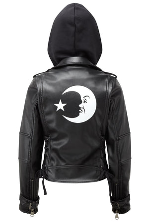 Luna Vega Hooded Biker [B]