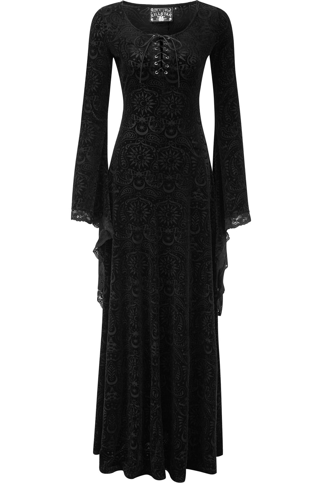 Mai Burnout Velvet Maxi Dress [B]
