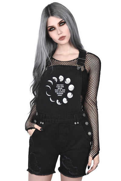 Many Moons Denim Overalls [B]