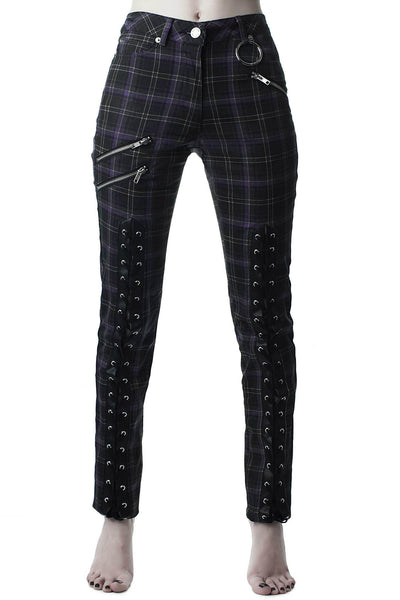 Mazzy Lace-Up Jeans [TARTAN]