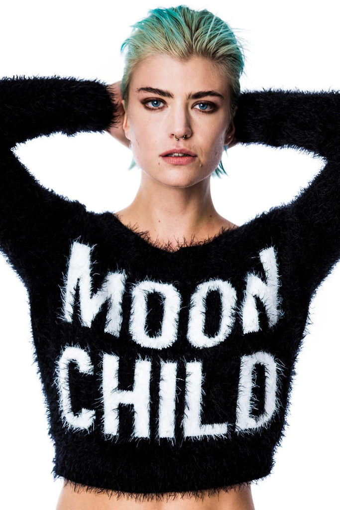 Moonchild Crop Sweater [B]