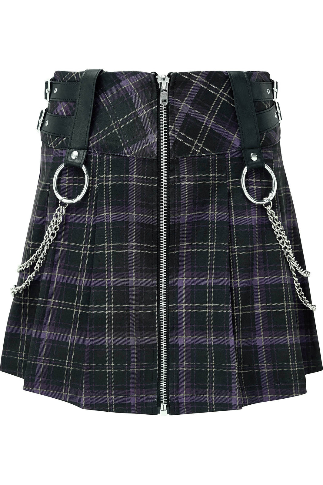 Nancy Pleated Mini Skirt [TARTAN]